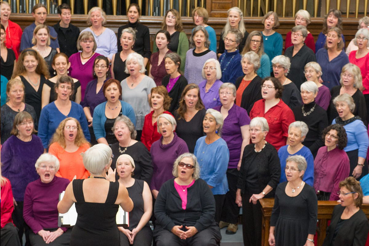 Becky Graber Leading the Brattleboro Womens Chorus